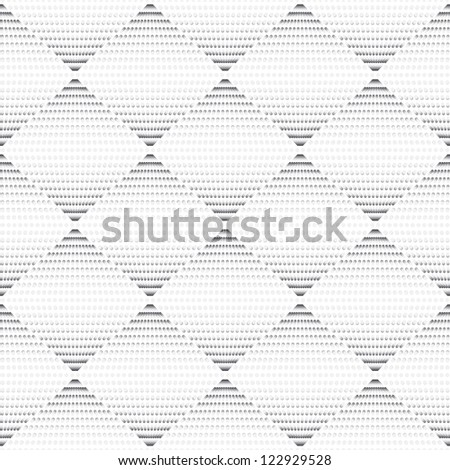 Seamless geometric texture gray pattern with circle - stock vector