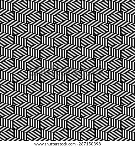 Seamless geometric texture. Op art pattern. Vector art. - stock vector