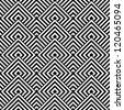 Seamless geometric texture. Vector art. - stock vector