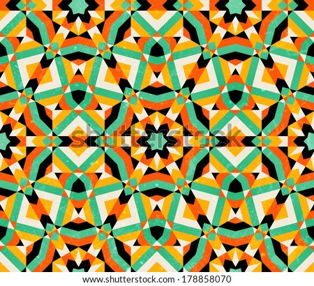 Seamless geometric traditional ornament. Abstract background. EPS 10 vector illustration. - stock vector