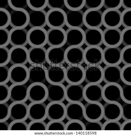 Seamless geometric vector dark pattern - grunge texture prototype for design - stock vector