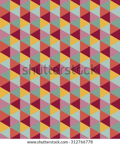 Seamless geometric vector pattern. Colorful background