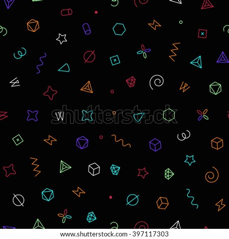 Seamless geometric vector pattern. Vector illustration with geometric elements
