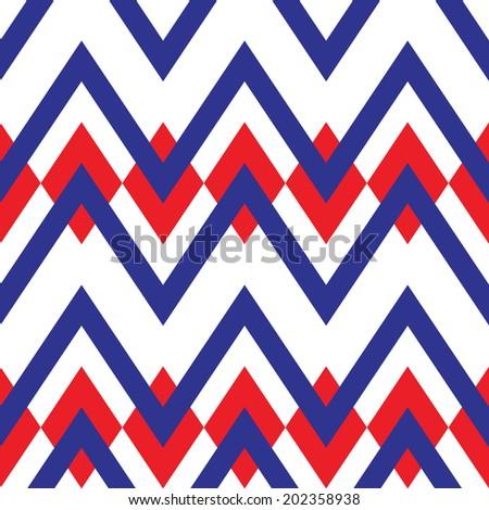 Seamless geometric zigzag pattern background - stock vector