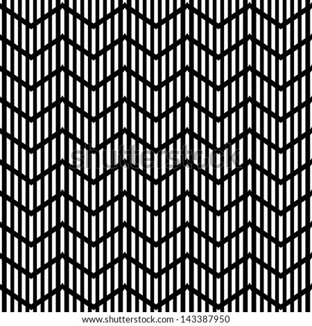 Seamless geometric zigzag pattern. Striped texture. Vector art. - stock vector
