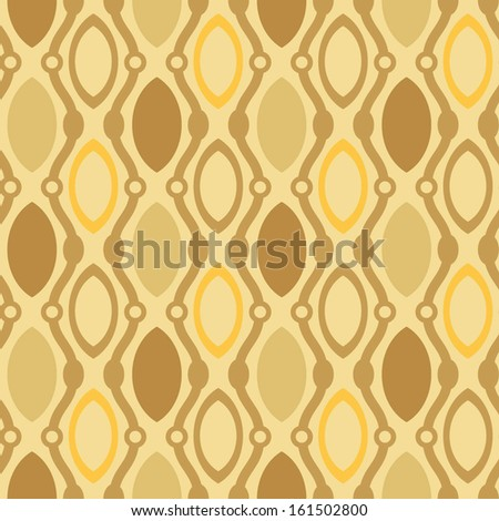 seamless geometrical background with waves and ovals - stock vector