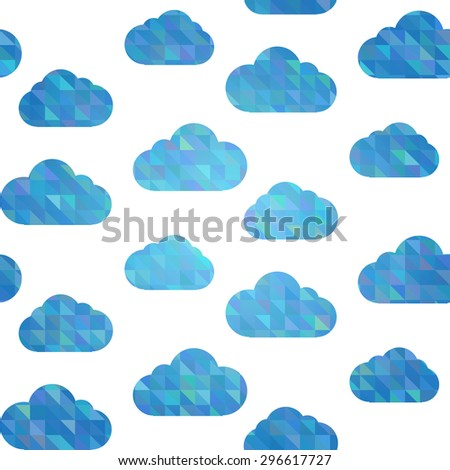 Seamless geometrical clouds pattern