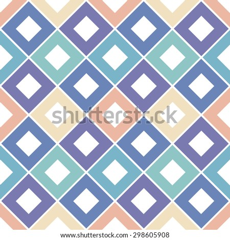 Seamless geometrical pattern with rhombuses. Vector illustration. - stock vector