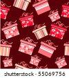 Seamless gift pattern - stock vector
