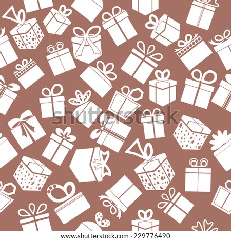 Seamless gift pattern. Vector background.