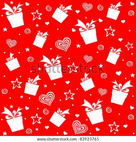 Seamless gift pattern. Vector illustration - stock vector