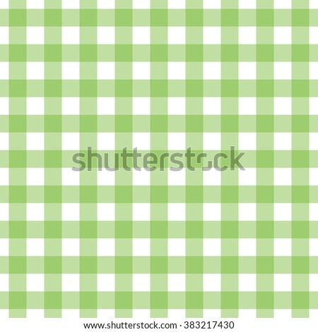 Seamless gingham pattern. Lime green check. Textile design. Classic kitchen interior design: wallpapers and kitchenware prints, tablecloths & table runners,  towels, napkins, aprons, placemats, rugs.  - stock vector