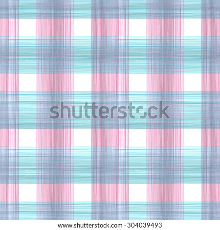 Seamless Gingham Print Pattern