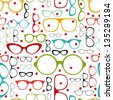 seamless glasses pattern - stock vector