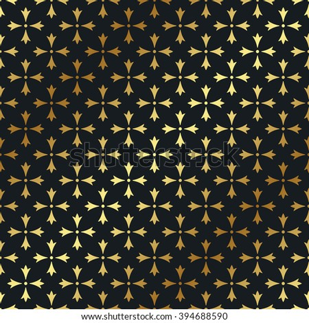Seamless gold pattern. Vector luxury background - stock vector