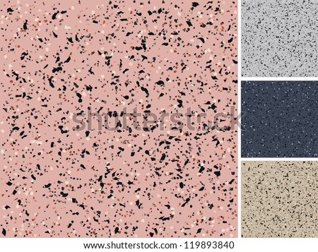 Seamless granite texture - stock vector