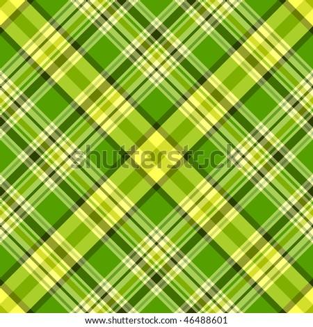 Seamless green and yellow diagonal pattern (vector, EPS 10) - stock vector