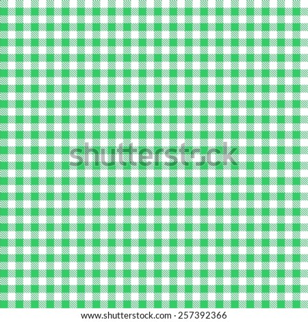 Seamless Green Checkered Tablecloth Pattern