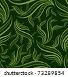 """Seamless green floral pattern with leafs (From my big """"Seamless collection"""") - stock vector"""