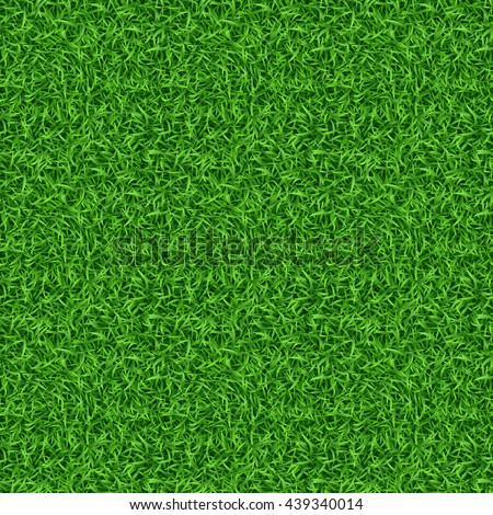 Seamless green grass vector pattern. Grass pattern, lawn grass, green grass nature illustration - stock vector