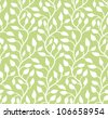 Seamless green leaf pattern. Vector illustration - stock vector
