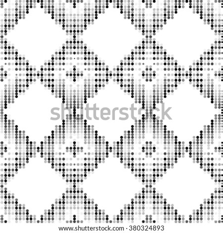 Seamless grid black and white texture. Dotted vector illustration background.