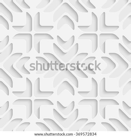 Seamless Grid Pattern. Vector Soft Background. Regular White Texture - stock vector