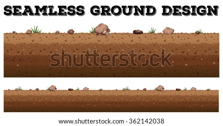 Seamless ground surface design illustration - stock vector