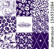 Seamless Halloween patterns mega collection - stock vector