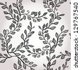 Seamless hand drawn elegant floral background. Eps10 - stock vector