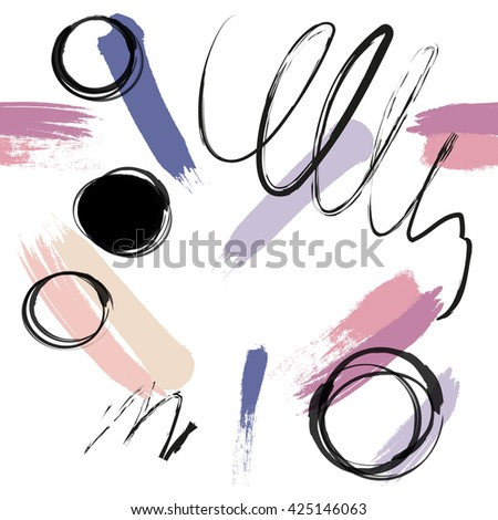 seamless hand drawn pattern. artistic creative background. vector illustration