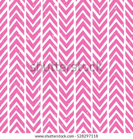 Seamless hand-drawn pattern in pink. Abstract vector background. EPS10.