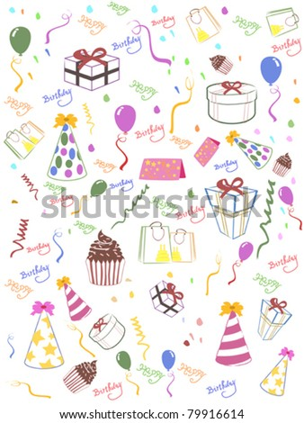 Seamless happy birthday background for design