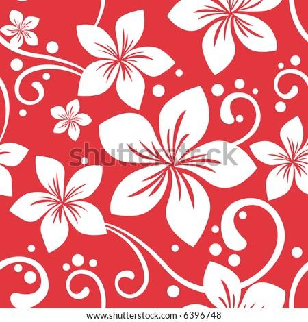 Seamless Hawaiian Christmas Pattern - stock vector