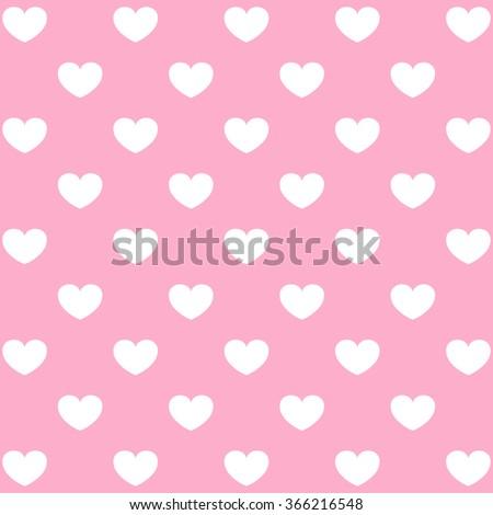 Seamless heart pattern love.  - stock vector