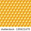 Seamless hexagonal cells vector texture. Editable, reddish background, you can change the background or cells color on any other - stock