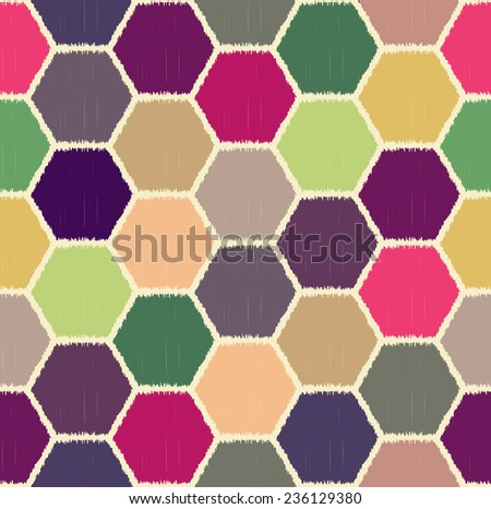 seamless hexagonal pattern - stock vector