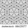 Seamless hexagonal pattern in arabian style, vector illustration - stock vector