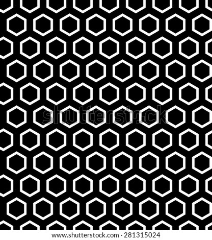 Seamless hexagons texture. Vector art. - stock vector