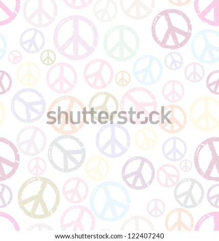 Seamless hippie background - stock vector