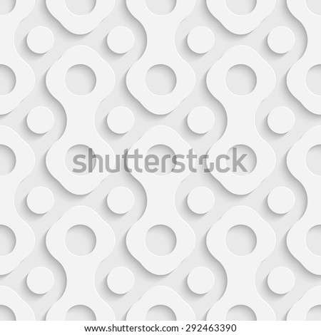 Seamless Hole Pattern. Vector Soft Background. Regular White Texture