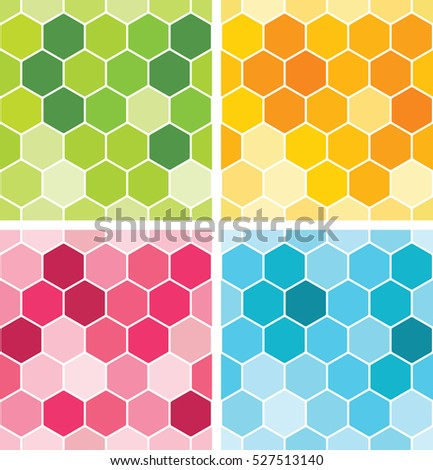 Seamless honeycomb pattern. Vector background.