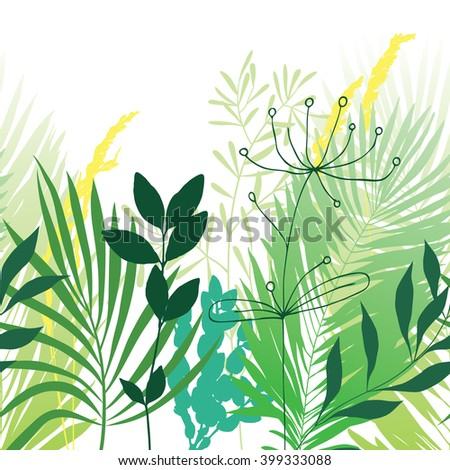 Seamless horizontally pattern with green grass - stock vector