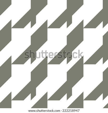 Seamless Houndstooth Pattern. Modern Geometrical Grey and White Background