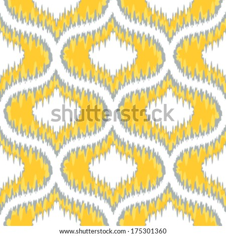 Seamless Ikat Ogee Background Pattern - stock vector