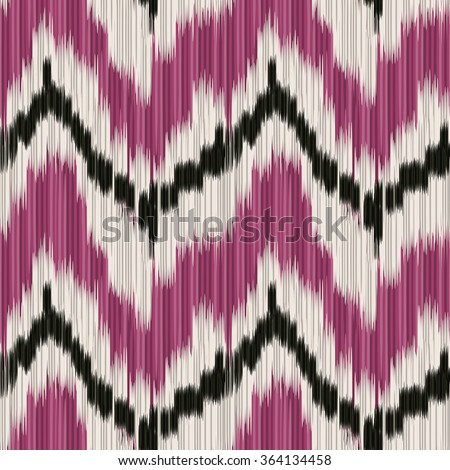 Seamless Ikat Pattern. Abstract  background for textile design, wallpaper, surface textures, wrapping paper. - stock vector