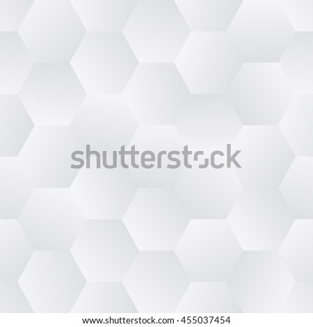 Seamless, illustrated tile of tessalated hexagons in grayscale, with randomized gradient orientations resulting in an abstract shading effect. Vector EPS8