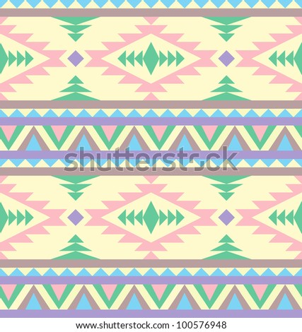 Seamless indian pattern in pastel tints - stock vector