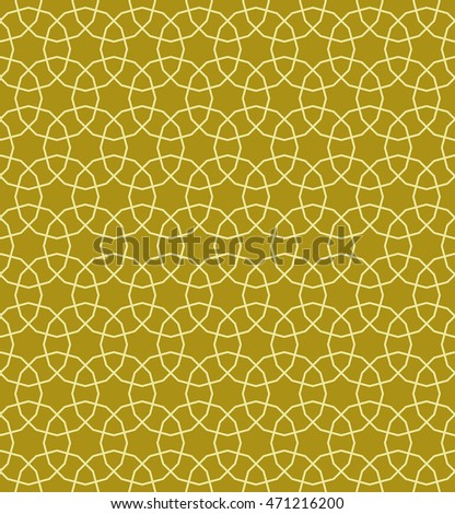 Seamless Islamic Pattern of Tessellations of  Six Point Stars, Shield , Wedge, Hexagon and 12 Sided Regular Polygons.