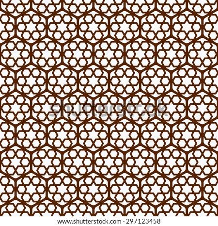 Seamless Islamic Screen Pattern. - stock vector